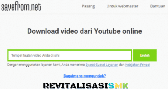 savefrom.net cara download video youtube