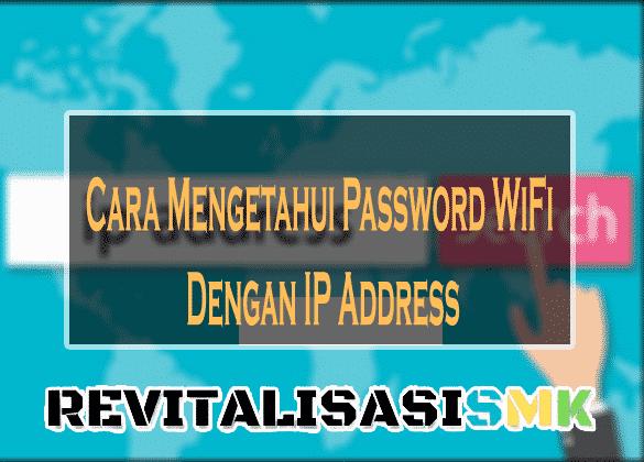 bobol password wifi dengan ip adress